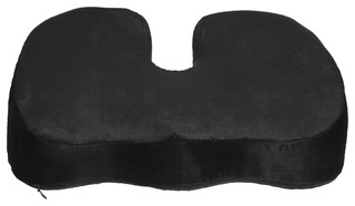 Coccyx Orthopedic Gel-Enhanced Comfort Foam Seat Cushion Ergonomic Wedge, Black