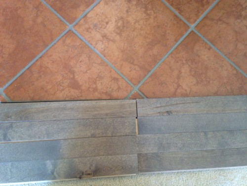 that grey grout w the tile does not normally appear that bright oh lawdynow i want to stain the grout brown
