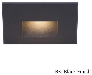 WAC Lighting WL-LED120-C-BK LED Horizontal Louvered Step and Wall Light 120V 3000K Black
