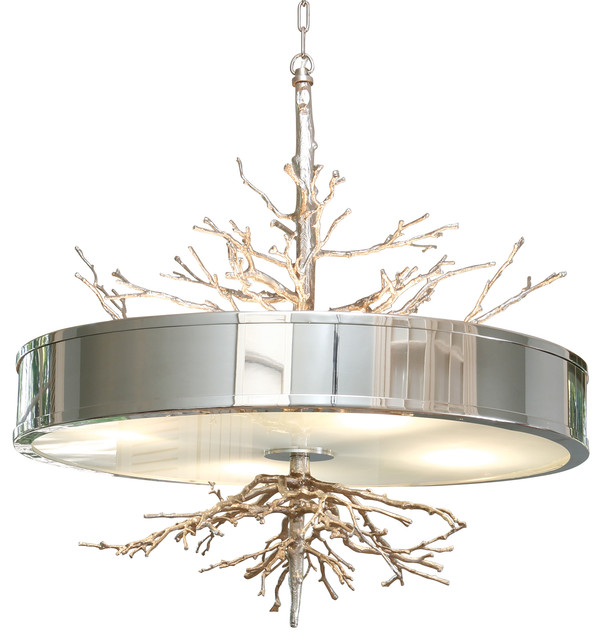 Global views twig pendant contemporary chandeliers by seldens global views twig pendant nickel aloadofball Image collections