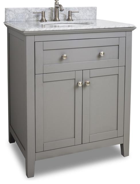 Bathroom Sinks Grey van102-x-t grey chatham shaker vanity with top and bowl in grey