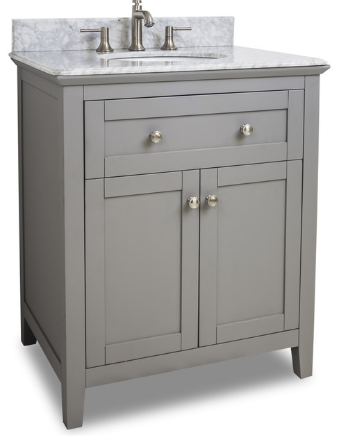Van102 30 T Grey Chatham Shaker Vanity With Top And Bowl In