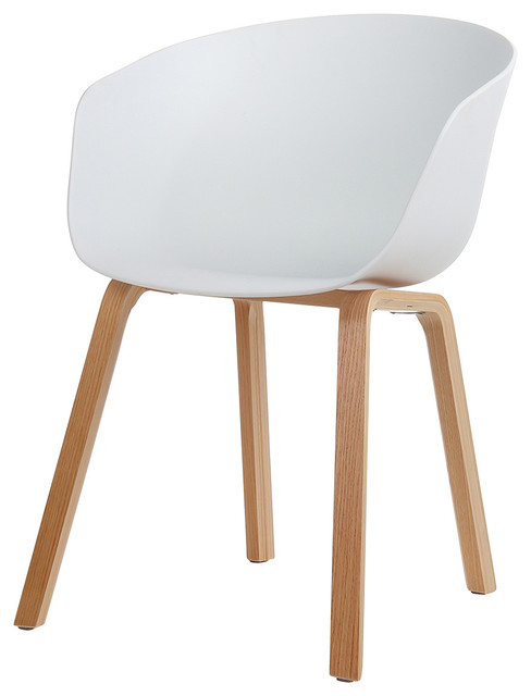 Danish Mid Century Modern Side Chair Curved Wood Legs Midcentury Dining Chairs By Joseph Allen Home