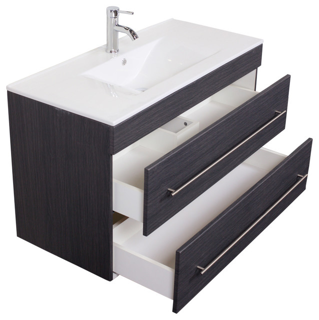 Emotion Infinity 1000 Bathroom Furniture, 100 cm, Grained Anthracite