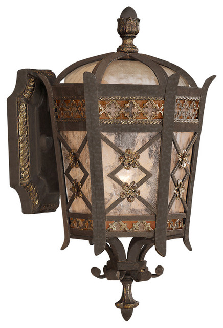 Fine Art Lamps 404781st Chateau Rustic Iron Outdoor Wall Sconce.