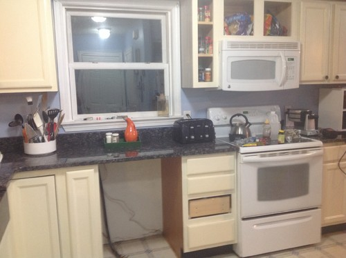 Linen Colored Cabinets With White Appliances