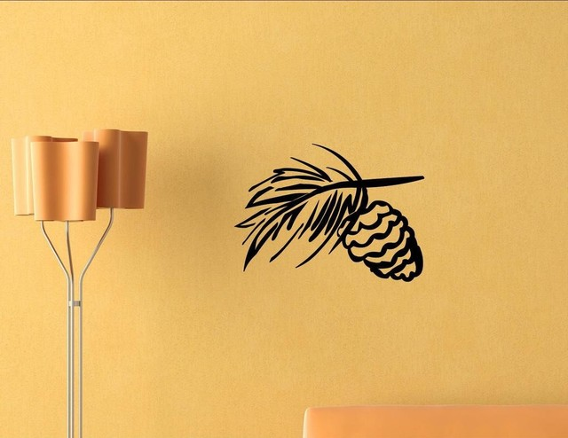 Pinecone, Wall Decor Stickers - Rustic - Wall Decals - by Vinylsay LLC