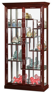 Rosewood Mother Pearl Inlay Curio Cabinet
