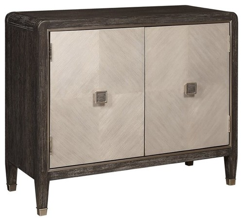 Home Fare Modern Oak and Primavera 2-Door Chest