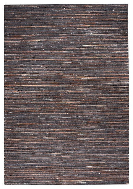 Uttermost Riviera Dark Brown 5x8 Rug.