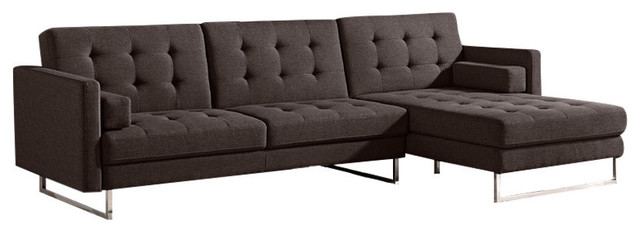 Opus Convertible Tufted RAF Chaise Sectional