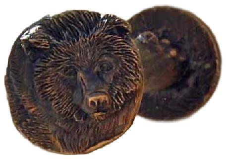 Drapery Tieback/valance Post, Bear, Traditional Patina.