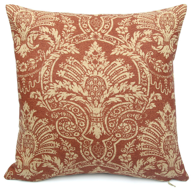 Down Throw Pillows For Couch : Toscana Red Throw Pillow - Decorative Pillows - by Chloe and Olive LLC