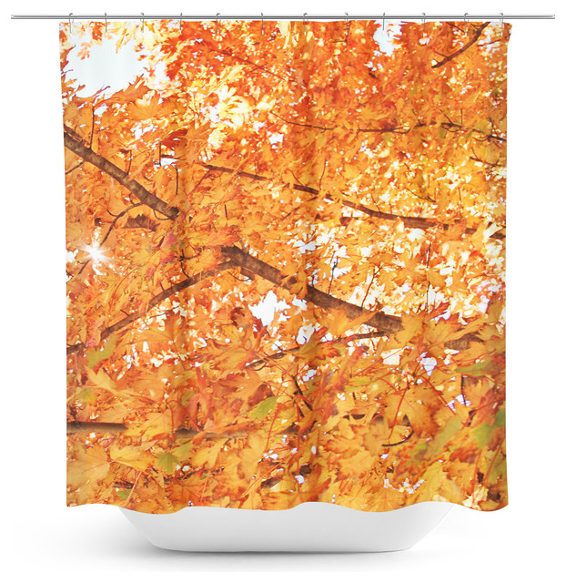 Fall Foliage Shower Curtain Modern Shower Curtains
