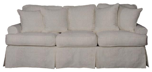 Whitman Sofa With Slip Cover, Light Gray.