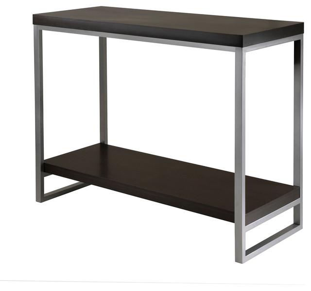 Jared Console Table, Enamel Steel Tube.