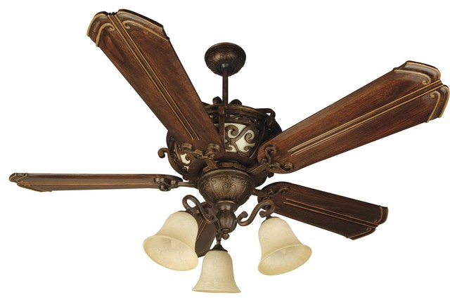 "Craftmade K10767 Toscana 56"" 5-Blade Indoor Ceiling Fan, Peruvian."