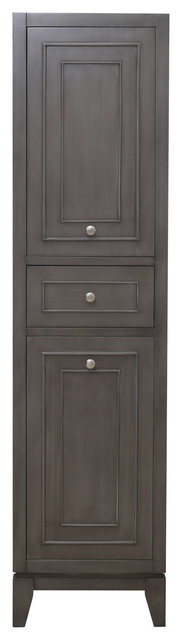 Sally Side Cabinet, Silver Gray.