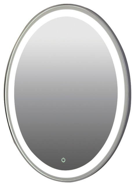 Hanging Led Light Mirror, Aluminum Sides, Dimmable/on/off Button.