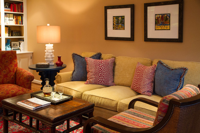 Eclectic colonial home for Traditional eclectic living rooms