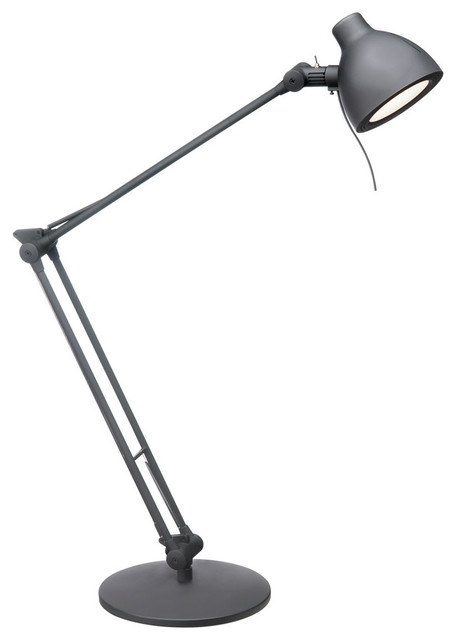 Matt Led Task Lamp, Black.