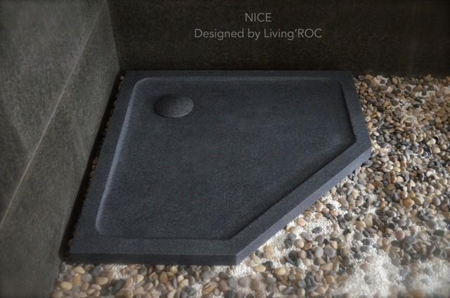 Nice Stone Shower Base Neo Angle In Gray Granite