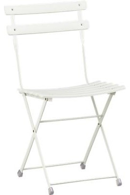 Pronto White Folding Bistro Chair Contemporary Dining Chairs