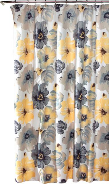 Leah Shower Curtain Blue Single 72X72