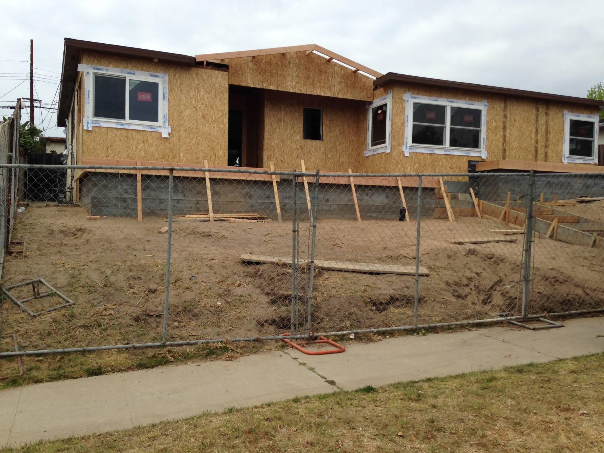 4/21 - in progress  new roof line