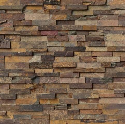 Split Face California Gold Corner Slate Tile Traditional