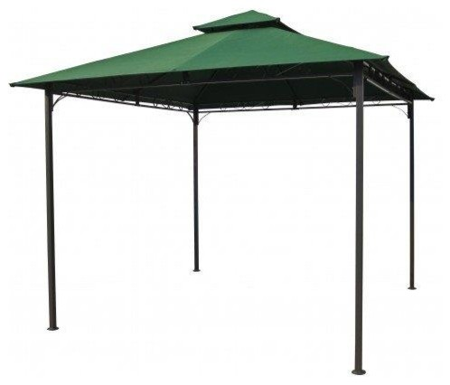 International Caravan Square Vented Canopy Gazebo, Forest Green.
