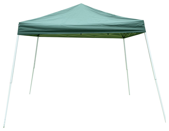 Outsunny 10&x27;x10&x27; Slant Leg Pop Up Canopy Tent, Green.