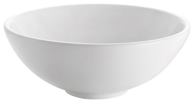 Adour White Ceramic Vessel Sink, White.