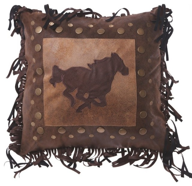 Decorative Horse Pillows : Carstens, Inc. - Horse Rivet Pillow - View in Your Room! Houzz