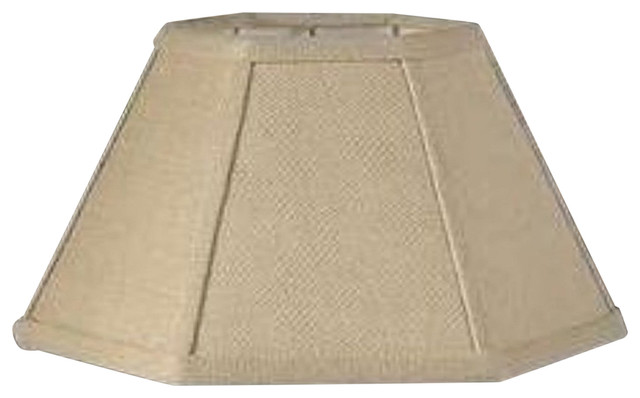Burlap 12 Inch Hex Shaped Chimney Style Oil Lampshade Replacement