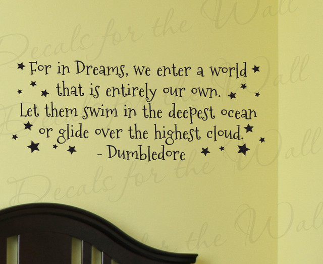 Wall Decal Art Sticker Quote Vinyl Lettering Large Dumbledore Harry ...