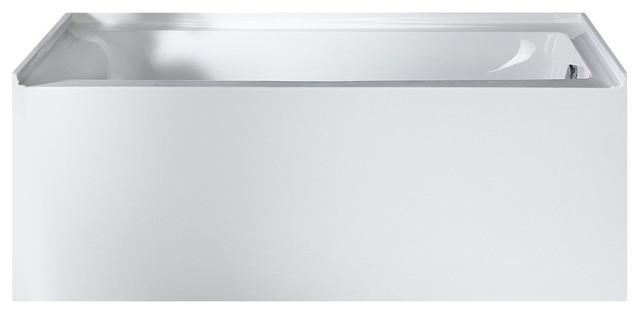 "Delano Rectangle Soaking Bathtub, White, 59""x32"" Right Drain. -1"