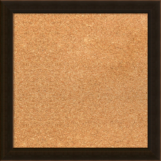 Framed Cork Board Small Large Portico Espresso Wood