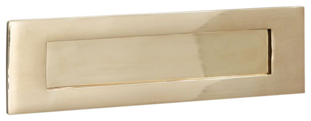 Letter Plate, 250mm, Polished Brass Unlacquered