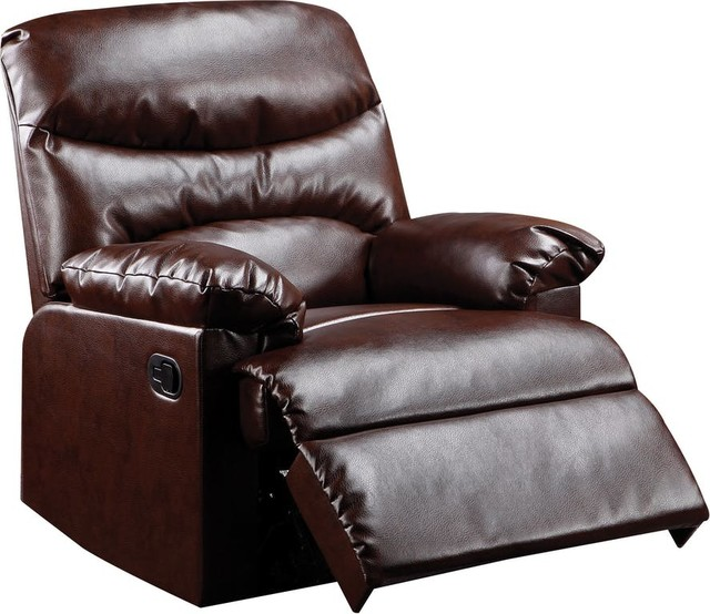 Acme Arcadia Motion Recliner, Cracked Brown by Acme Furniture