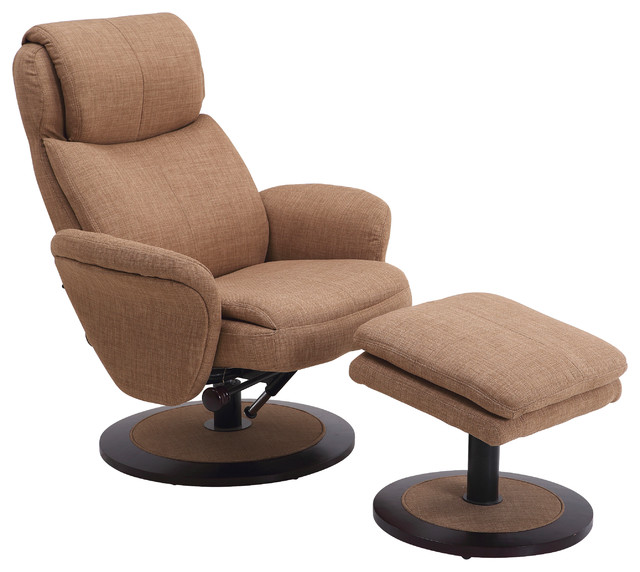Comfort Chair Fabric Swivel Recliner With Ottoman