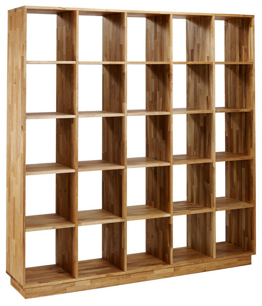 Mash Lax Solid Wood Large Modern Bookshelf