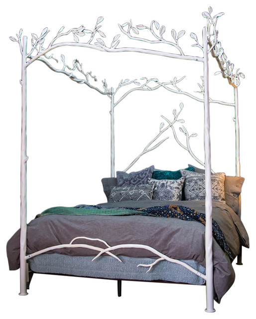 Forest Canopy Bed, White, King.