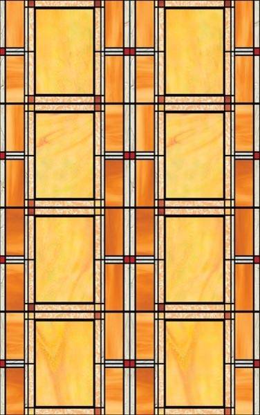 Arts And Crafts Stained Glass Window Film, Set Of 2.