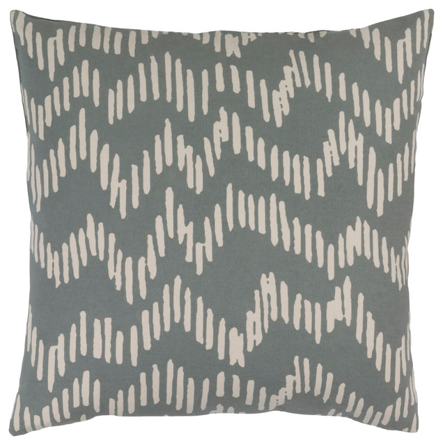 Surya Somerset 20x20x0.25 Gray Pillow Cover.