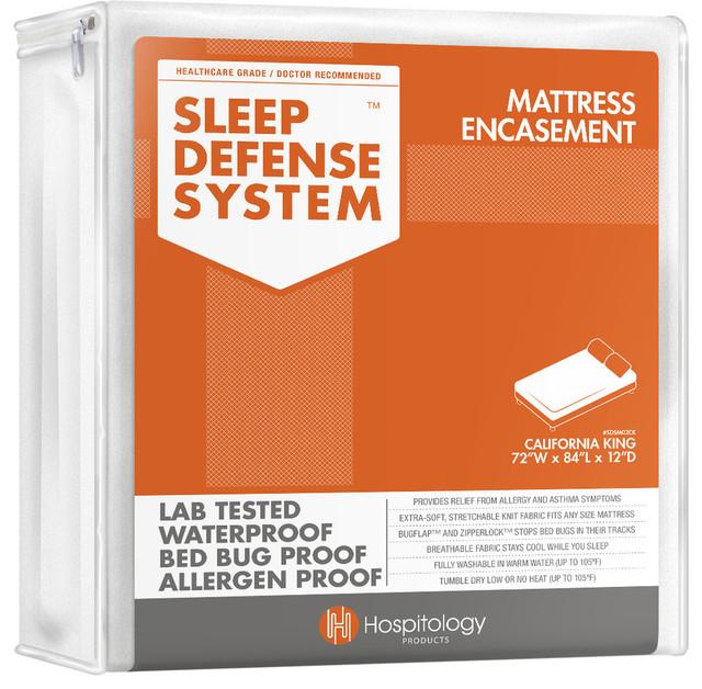 sleep defense system   waterproof bed bug proof mattress