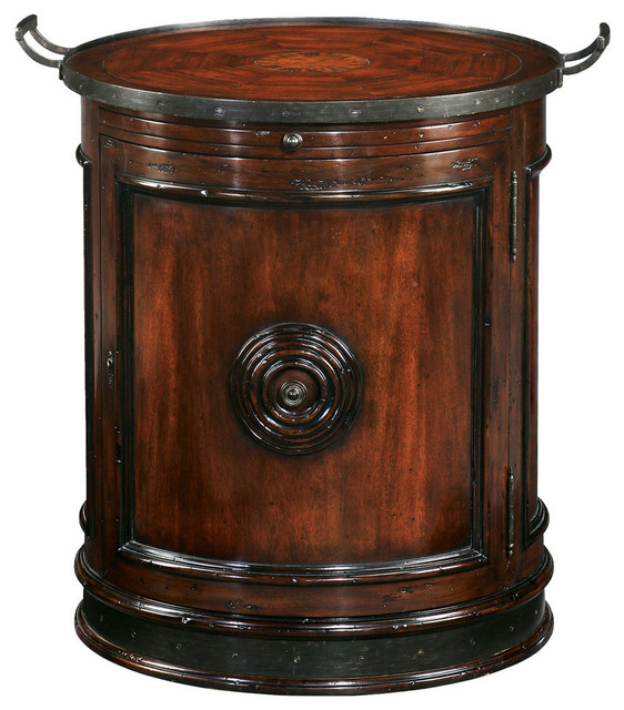 English georgian america surprising drum side table side for Drum side table