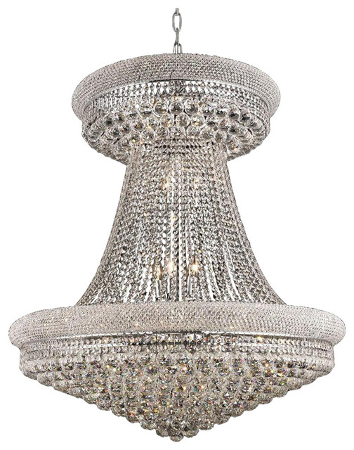 95e0e3ce9e Empire 28-Light Transitional Round Large Chandelier - Contemporary -  Chandeliers - by Designer Lighting and Fan