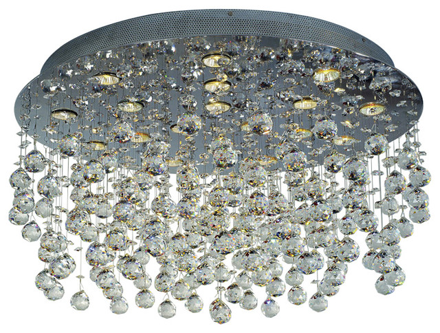 Plc 18-Light Ceiling-Light Beverly Collection, Polished Chrome.