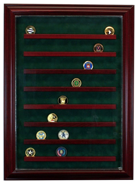 Perfect Cases, Inc. - 64 Coin Cabinet Style Display Case - View in Your Room! | Houzz